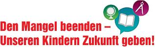 Logo Bildungsbündnis: Den Mangel beenden